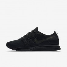 Mens Black/Anthracite Nike Flyknit Trainer Lifestyle Shoes 670FEDHG