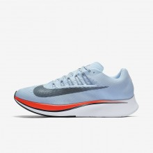 Mens Ice Blue/Bright Crimson/University Red/Blue Fox Nike Zoom Fly Running Shoes 674BJGIT