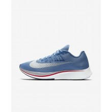 Mens Aegean Storm/Blue Nebula/Thunder Blue/Summit White Nike Zoom Fly Running Shoes 678NFUVW
