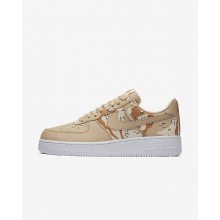 Mens Bio Beige/Orange Quartz/Terra Orange Nike Air Force 1 07 Low Lifestyle Shoes 679PASNK