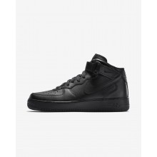 Mens Black Nike Air Force 1 Mid 07 Lifestyle Shoes 690BSLIR