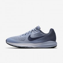 Womens Armory Blue/Cirrus Blue/Cerulean/Armory Navy Nike Air Zoom Structure 21 Running Shoes 696EBCRK