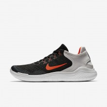 Mens Black/Vast Grey/White/Total Crimson Nike Free RN 2018 Running Shoes 700JLWTC