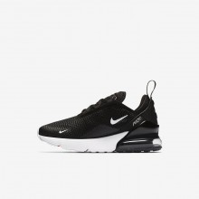 Boys Black/Anthracite/White Nike Air Max 270 Lifestyle Shoes 704OEPSR