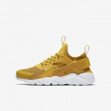 Nike Air Huarache Ultra Lifestyle Shoes For Boys Mineral Yellow/Pure Platinum/Vivid Sulfur 714IVBHD