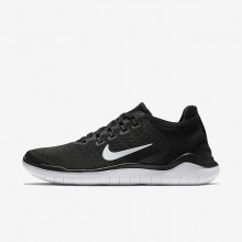 Womens Black/White Nike Free RN 2018 Running Shoes 726QAUNH