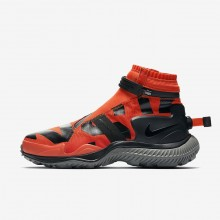 Mens Team Orange/Tumbled Grey/Black Nike Gaiter Lifestyle Shoes 726RTZNL