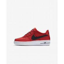 Nike Air Force 1 LV8 NBA Lifestyle Shoes For Boys University Red/White/Black 732VTJOC