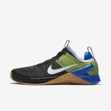 Nike Metcon DSX Flyknit 2 Training Shoes For Men Black/Racer Blue/Volt/White 734OFZVC