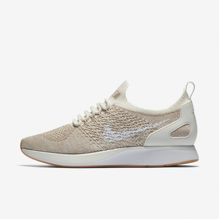 ead8dae17577 Womens Sail Sand Gum Yellow White Nike Air Zoom Mariah Flyknit Racer  Lifestyle
