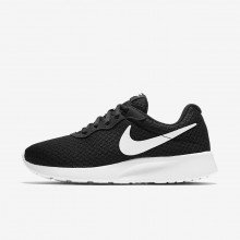 Womens Black/White Nike Tanjun Lifestyle Shoes 746HNRXI