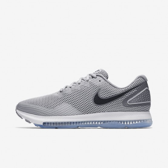 Mens Wolf Grey/Cool Grey/Black Nike Zoom All Out Low 2 Running Shoes 748QDHFX
