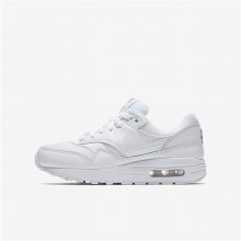 Nike Air Max 1 Lifestyle Shoes For Boys White/Metallic Silver 749ODEXI