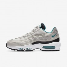 Mens Light Bone/Black/White/Sport Turquoise Nike Air Max 95 Essential Lifestyle Shoes 750RUQPA