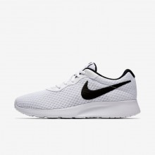 Womens White/Black Nike Tanjun Lifestyle Shoes 751DKXLF