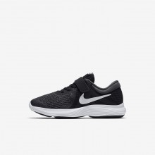 Girls Black/Anthracite/White Nike Revolution 4 Running Shoes 755XPLFJ