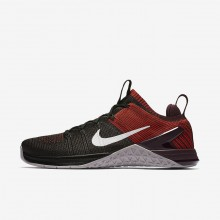 Nike Metcon DSX Flyknit 2 Training Shoes For Men Black/Chile Red/Vast Grey 756RVDTE