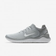 Mens Wolf Grey/White/Volt Nike Free RN 2018 Running Shoes 760EMHXJ