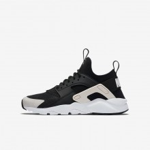 Nike Air Huarache Ultra Lifestyle Shoes For Boys Black/White/Barely Rose 761RMFEJ