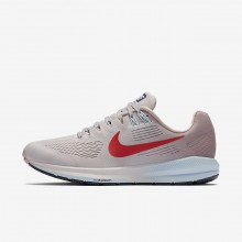 Nike Air Zoom Structure 21 Running Shoes For Women Vast Grey/Elemental Rose/Cobalt Tint/Habanero Red 776HMNFX