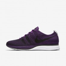 Mens Night Purple/White/Black Nike Flyknit Trainer Lifestyle Shoes 805DNWBP
