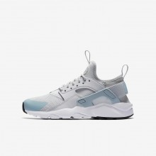 Nike Air Huarache Ultra Lifestyle Shoes For Boys Pure Platinum/White/Ocean Bliss 806GQYAT