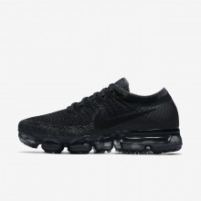 Womens Black/Dark Grey/Anthracite Nike Air VaporMax Flyknit Running Shoes 808BKXVH