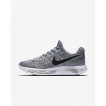 Womens Wolf Grey/Cool Grey/Pure Platinum/Black Nike LunarEpic Low Flyknit 2 Running Shoes 808FLCMI