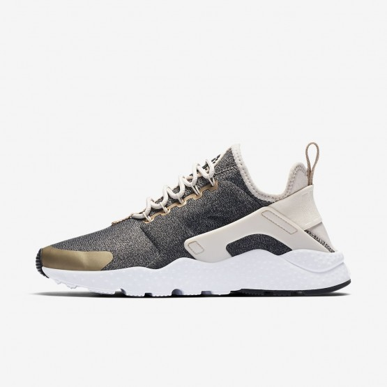 Womens Light Orewood Brown/Blur/Black Nike Air Huarache Ultra SE Lifestyle Shoes 841WDULF