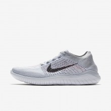 Mens Pure Platinum/White/Wolf Grey/Black Nike Free RN Flyknit 2018 Running Shoes 861WYDPK