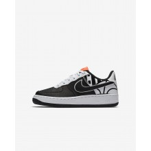 Nike Air Force 1 LV8 Lifestyle Shoes For Boys Black/White 874EBWZP