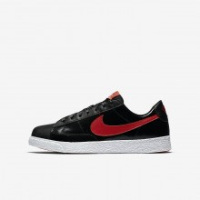 Girls Black/Bleached Coral/Speed Red Nike Blazer Low QS Lifestyle Shoes 883IDERW