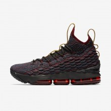 Womens Dark Atomic Teal/Team Red/Muted Bronze/Ale Brown Nike LeBron 15 Basketball Shoes 898YXJWD