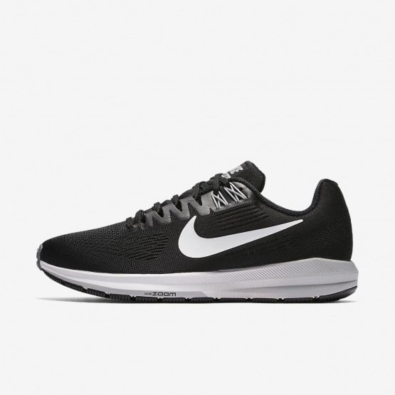 Womens Black/Wolf Grey/Cool Grey/White Nike Air Zoom Structure 21 Running Shoes 900FNEJM