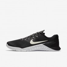 Mens Black/White Nike Metcon 4 Training Shoes 902QUCZD