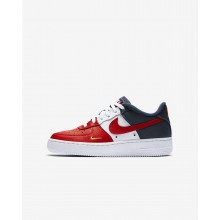 Nike Air Force 1 LV8 Lifestyle Shoes For Boys University Red/Midnight Navy/University Gold 911YWPQG