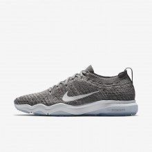 Womens Gunsmoke/Atmosphere Grey/White Nike Air Zoom Fearless Flyknit Lux Training Shoes 926QXMLI