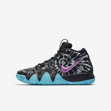 Nike Kyrie 4 AS Basketball Shoes For Boys Black/White 928GNIAV