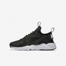 Nike Air Huarache Ultra Lifestyle Shoes For Boys Black/White 938ZBSJA