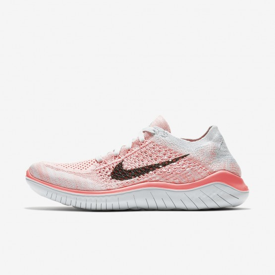 Womens Crimson Pulse/Pure Platinum/Palest Purple/Black Nike Free RN Flyknit 2018 Running Shoes 944DHMYU