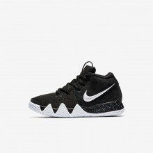 Nike Kyrie 4 Basketball Shoes For Girls Black/Anthracite/Light Racer Blue/White 979ODSMY