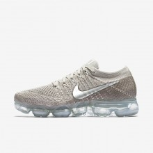 Womens String/Sunset Glow/Taupe Grey/Chrome Nike Air VaporMax Flyknit Running Shoes 986SNYGW