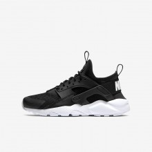 Nike Air Huarache Ultra Lifestyle Shoes For Boys Black/White 991KHROG