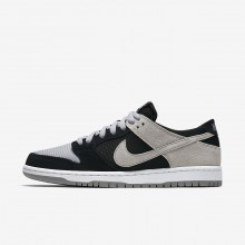 Mens Black/White/Wolf Grey Nike SB Dunk Low Pro Skateboarding Shoes 991MDNAT