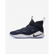 Nike LeBron Soldier XI Basketball Shoes For Women College Navy/White/Team Red 992KPANI
