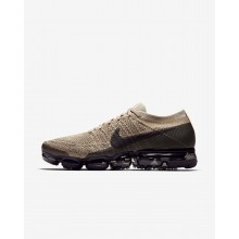 Mens Khaki/Anthracite/Pale Grey/Black Nike Air VaporMax Flyknit Running Shoes 999UTBCO